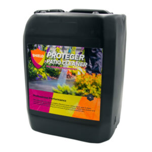 PROTEGER ProShield Solutions Patio Cleaner is a highly effective moss, lichen, black spot &algae remover, suitable for all outdoor stone & masonry surfaces. Apply the cleaner and leave to dwell for rapid lifting and removal of grime and stubborn dirt.
