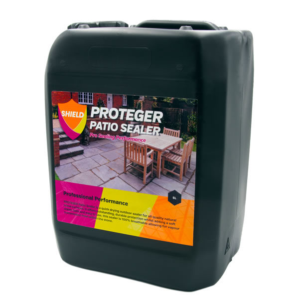 PROTEGER ProShield Patio Sealer is a quick drying outdoor sealer for all quality natural stone surfaces. It offers outstanding, durable protection whilst adding a soft sheen. Safe and easy to use, this sealer is 100% breathable allowing for vapour transmission from within the stone.