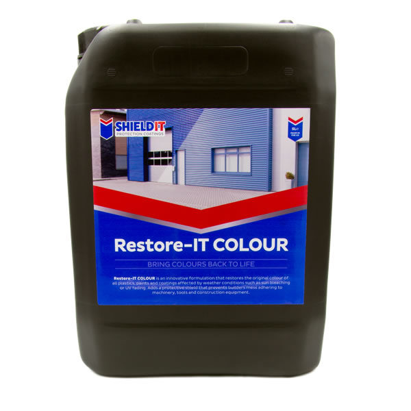 SHIELDIT – RESTORE-IT COLOUR by Proteger Proshield is an innovative formulation that restores the original colour of all plastics, paints and coatings affected by the weather conditions such as sun bleaching or UV fading.