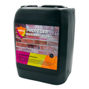 Proteger ProShield Masonry Wash is a professional calcium & carbon remover that dissolves and removes problematic deposits of calcium, lime scale, efflorescence and general carbon & surface soiling from acid resistant natural stone surfaces. Highly effective for the removal of salt blooms after brickwork installations.