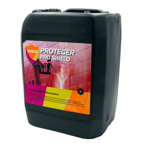 Proteger ProShield Facade Sealer is for your Commercial or Domestic Facade Protection and is available in 25L or 5L Tubs.