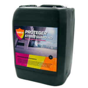 Proteger ProShield Street Guard HD – come with a 7 Year Warranty and there is a reason why this product is used on so many prestigious locations throughout the UK. Available in 25L or 5L Tubs is an innovative and safe sealing solution providing stain resistance and mechanical protection for large scale, commercial, civil, streetscape and pedestrianised applications. Safe, VOC free, 100% vapour transmission with fast-track drying and class-leading abrasion resistance.